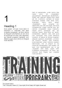 Training Word Cloud Word Template, First Inner Page, 12630, Education & Training — PoweredTemplate.com