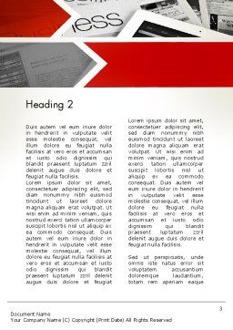 Forward Oriented Word Template, Second Inner Page, 12634, Business — PoweredTemplate.com