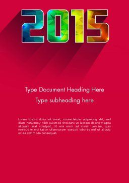 Modern Style 2015 Word Template, Cover Page, 12638, Holiday/Special Occasion — PoweredTemplate.com