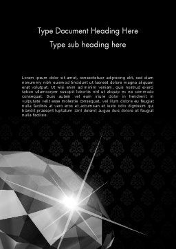Diamond Facets Word Template Cover Page