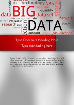 Data Word Cloud Word Template, Cover Page, 12649, Technology, Science & Computers — PoweredTemplate.com