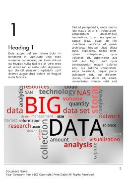 Data Word Cloud Word Template, First Inner Page, 12649, Technology, Science & Computers — PoweredTemplate.com