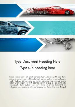 Car Design Industry Word Template Cover Page
