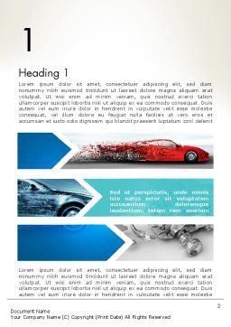 Car Design Industry Word Template, First Inner Page, 12650, Careers/Industry — PoweredTemplate.com