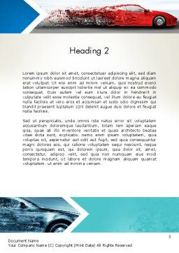 Car Design Industry Word Template Second Inner Page