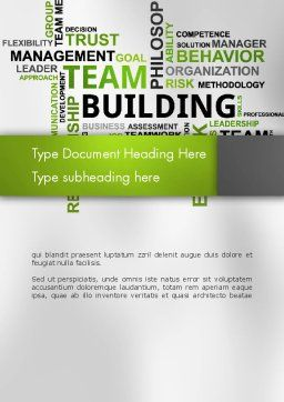 Team Building Word Cloud Word Template Cover Page