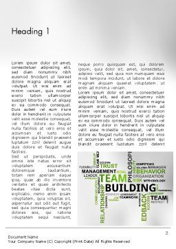 Team Building Word Cloud Word Template First Inner Page