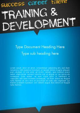 Training and Development Word Template, Cover Page, 12652, Education & Training — PoweredTemplate.com
