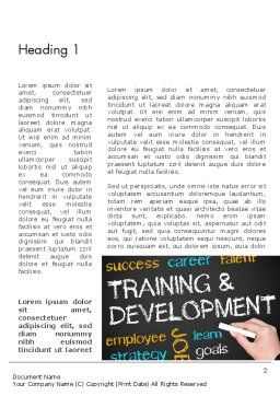 Training and Development Word Template, First Inner Page, 12652, Education & Training — PoweredTemplate.com