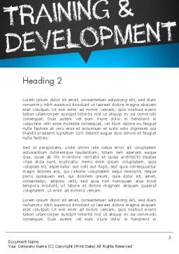 Training and Development Word Template Second Inner Page