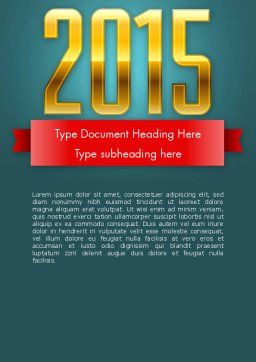 2015 Gold Numbers Word Template, Cover Page, 12655, Holiday/Special Occasion — PoweredTemplate.com