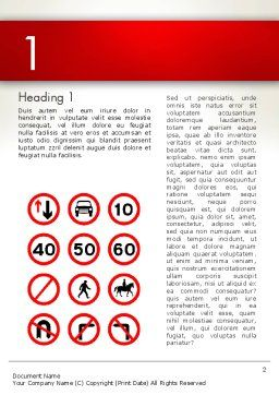 Traffic Signs Word Template First Inner Page