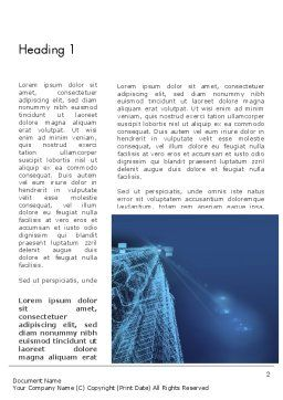 Abstract 3D Architect Word Template, First Inner Page, 12659, Construction — PoweredTemplate.com