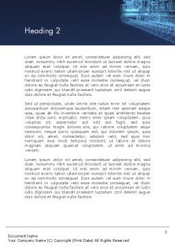 Abstract 3D Architect Word Template, Second Inner Page, 12659, Construction — PoweredTemplate.com