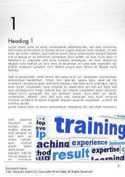 Training and Coaching Word Cloud Word Template, First Inner Page, 12663, Education & Training — PoweredTemplate.com