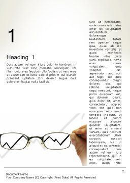 Business Insight Word Template, First Inner Page, 12664, Consulting — PoweredTemplate.com