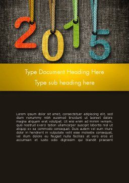 Happy New Year 2015 Word Template, Cover Page, 12667, Holiday/Special Occasion — PoweredTemplate.com