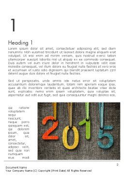 Happy New Year 2015 Word Template, First Inner Page, 12667, Holiday/Special Occasion — PoweredTemplate.com