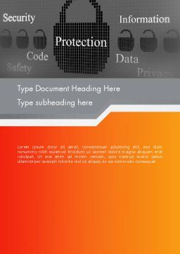 Data Security and Protection Word Template, Cover Page, 12669, Technology, Science & Computers — PoweredTemplate.com