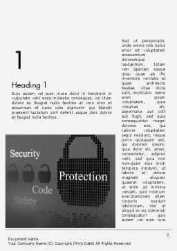 Data Security and Protection Word Template, First Inner Page, 12669, Technology, Science & Computers — PoweredTemplate.com