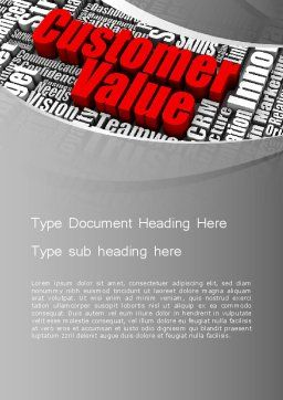 Customer Value Word Template, Cover Page, 12674, Consulting — PoweredTemplate.com