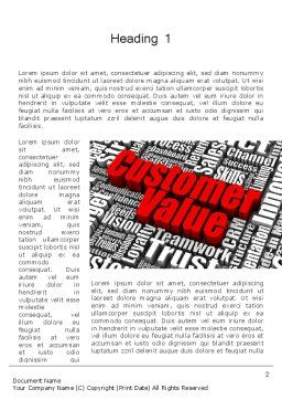 Customer Value Word Template, First Inner Page, 12674, Consulting — PoweredTemplate.com