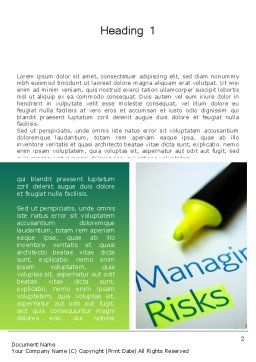 Managing Risks Word Template, First Inner Page, 12675, Careers/Industry — PoweredTemplate.com