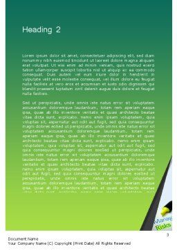 Managing Risks Word Template, Second Inner Page, 12675, Careers/Industry — PoweredTemplate.com