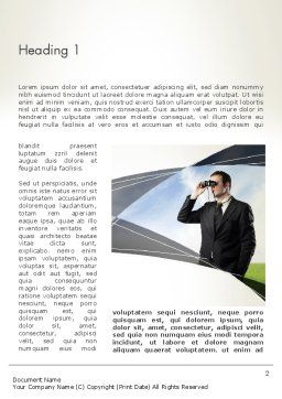 Career Advice Service Word Template, First Inner Page, 12679, Business Concepts — PoweredTemplate.com
