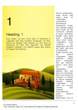 Valley Village Word Template, First Inner Page, 12683, Agriculture and Animals — PoweredTemplate.com