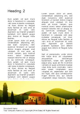 Valley Village Word Template, Second Inner Page, 12683, Agriculture and Animals — PoweredTemplate.com