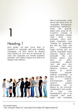 People Standing in Line Word Template, First Inner Page, 12687, People — PoweredTemplate.com