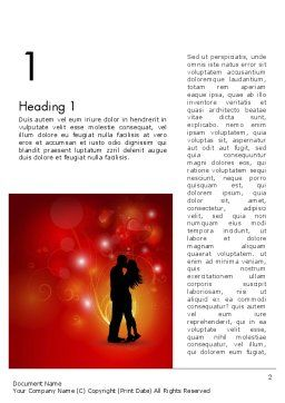 Love Theme with Silhouette of Lovers Word Template, First Inner Page, 12688, Holiday/Special Occasion — PoweredTemplate.com