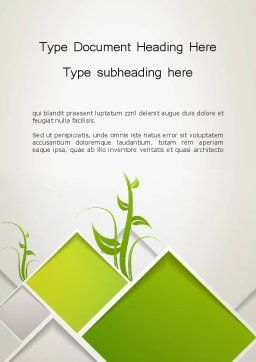 Abstract Greenhouse Concept Word Template, Cover Page, 12694, Nature & Environment — PoweredTemplate.com