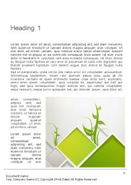 Abstract Greenhouse Concept Word Template, First Inner Page, 12694, Nature & Environment — PoweredTemplate.com
