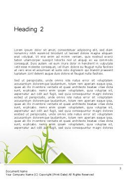 Abstract Greenhouse Concept Word Template, Second Inner Page, 12694, Nature & Environment — PoweredTemplate.com