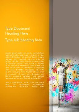 Creative Mind Word Template, Cover Page, 12698, Business Concepts — PoweredTemplate.com