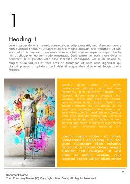 Creative Mind Word Template, First Inner Page, 12698, Business Concepts — PoweredTemplate.com