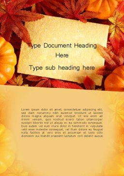 Thanksgiving Card Word Template, Cover Page, 12702, Holiday/Special Occasion — PoweredTemplate.com
