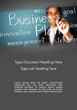 Strategic Business Planning Word Template, Cover Page, 12703, Careers/Industry — PoweredTemplate.com