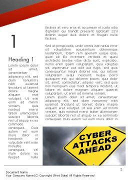Cyber Attacks Sign Word Template First Inner Page