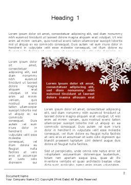 Expressive New Year Theme Word Template, First Inner Page, 12710, Holiday/Special Occasion — PoweredTemplate.com
