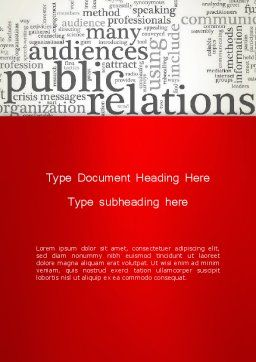 Public Relations Word Cloud Word Template, Cover Page, 12722, Careers/Industry — PoweredTemplate.com