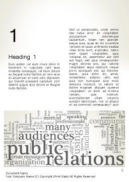 Public Relations Word Cloud Word Template, First Inner Page, 12722, Careers/Industry — PoweredTemplate.com