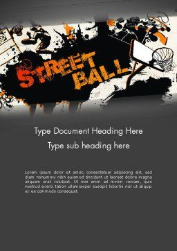 Street Basketball Graffiti Word Template, Cover Page, 12725, Sports — PoweredTemplate.com