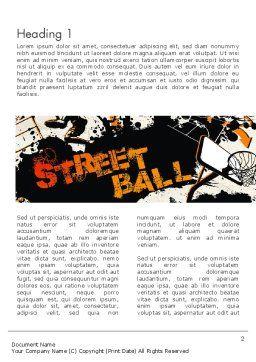 Street Basketball Graffiti Word Template, First Inner Page, 12725, Sports — PoweredTemplate.com