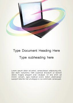 Online Learning Word Template, Cover Page, 12726, Education & Training — PoweredTemplate.com