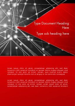 Abstract Network Community Word Template Cover Page