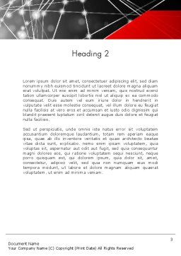 Abstract Network Community Word Template Second Inner Page