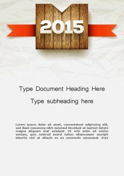 2015 on Wooden Surface with Ribbon Word Template, Cover Page, 12729, Holiday/Special Occasion — PoweredTemplate.com